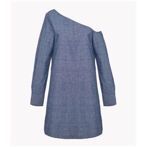 Theory ulrika chambray mini dress 10